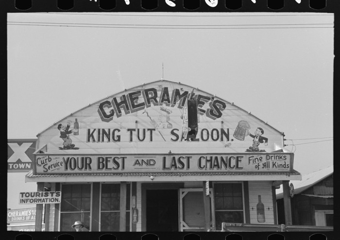 8. Front of saloon, Raceland
