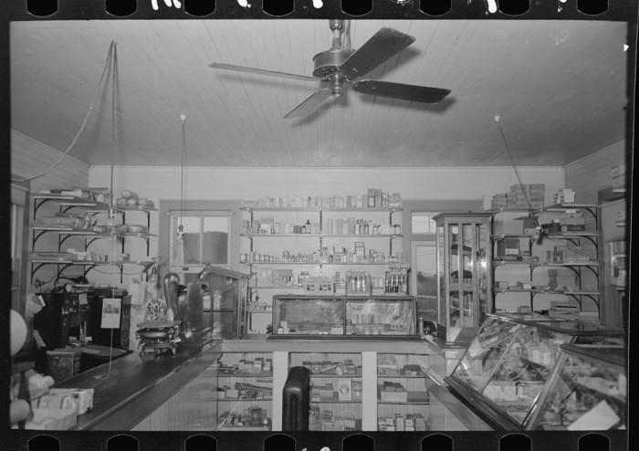 7. Interior of general store, Pilottown