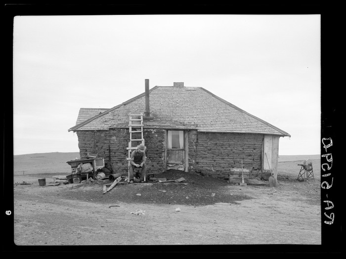 "5. ""Sod homestead near Bowman, North Dakota"""