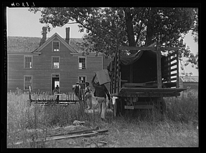 13. Migratory agricultural farmers arrive at their new home in Onley, Virginia