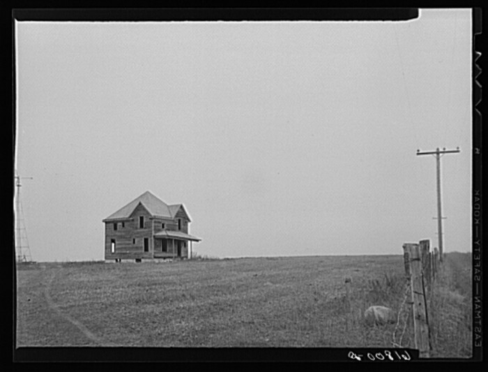 "9. ""Abandoned farmhouse. Ward County, North Dakota"""