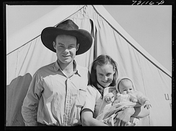 13. This young migrant couple—perhaps from a Dust Bowl state—meanwhile lived in temporary housing in Pinal County.
