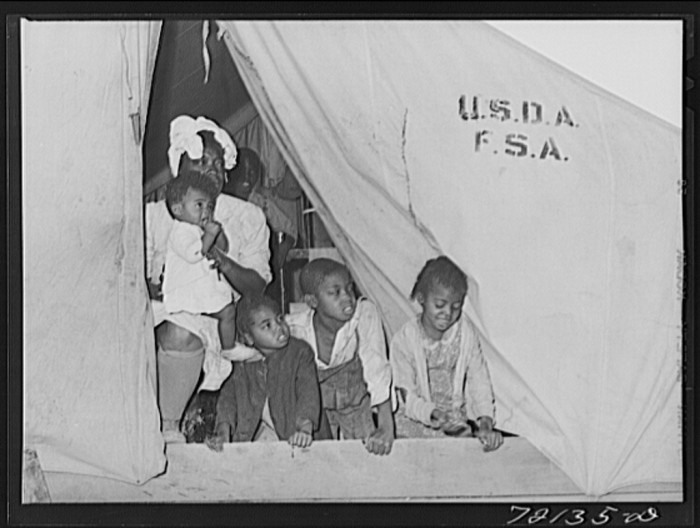 14. And this family of six (or more!) lived in similar housing as the previous family.