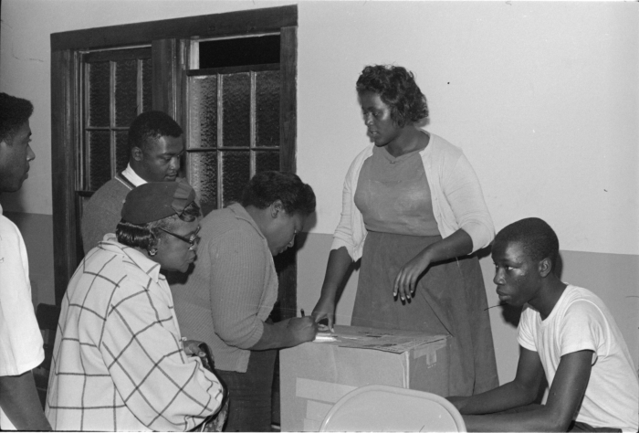 9. Hattiesburg residents participated in an unofficial ballot at the Aaron Henry for Governor Rally, which was held in October of 1963.