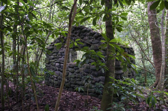 9) An ancient stone house sits abandoned near the Big Island's Waipio Valley.
