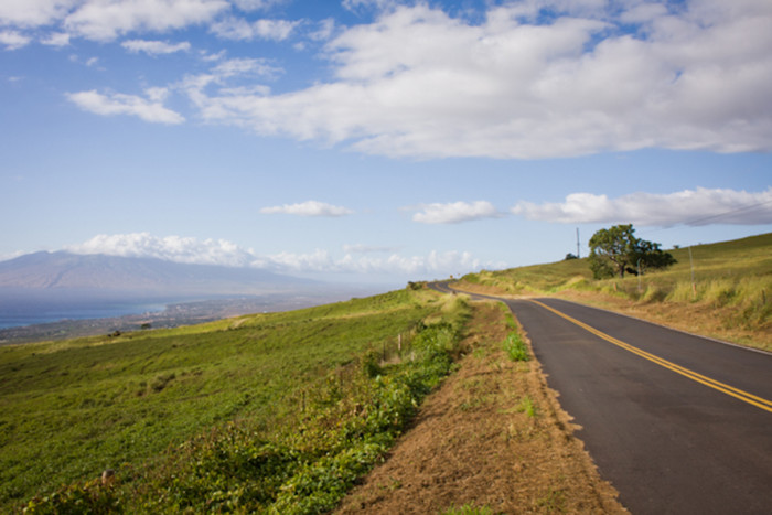 9. The beautiful Kula Road provides magnificent views of the West Maui Mountains.