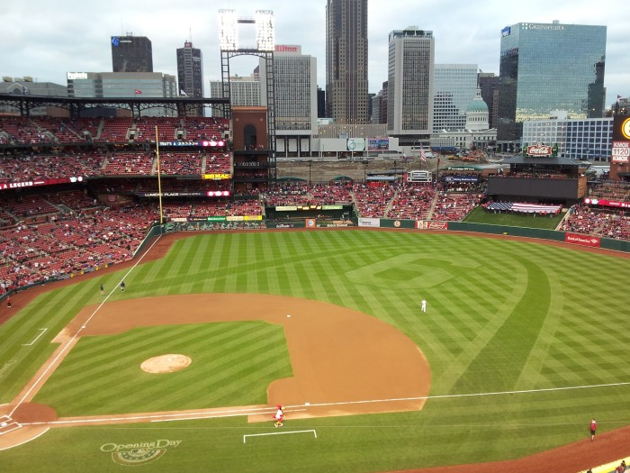 9.Catching opening day at Busch Stadium.
