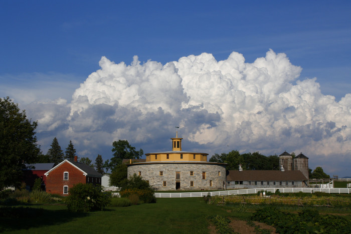 20. The yellow cap of Hancock Shaker Village in Pittsfield.