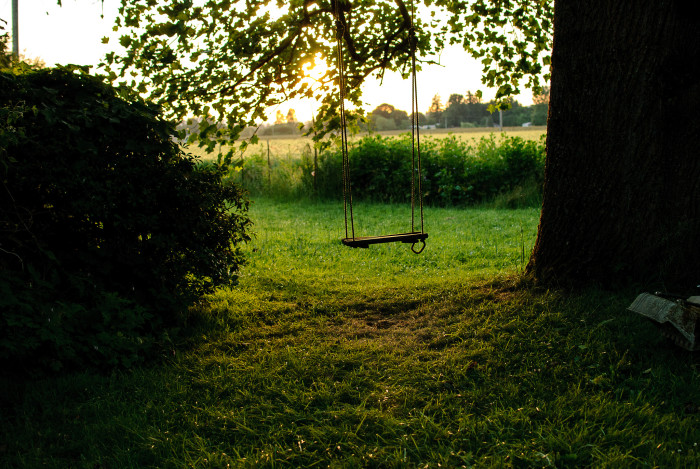 1. A lovely rope swing in the country: