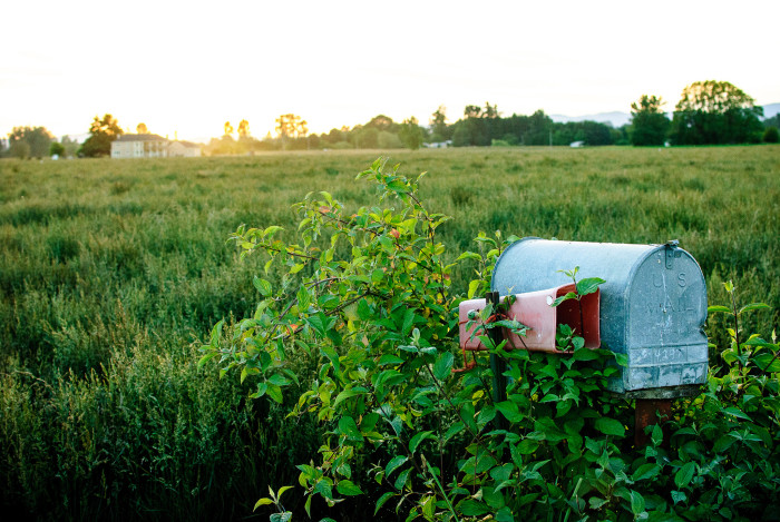 16. A lovely mailbox at sunset: