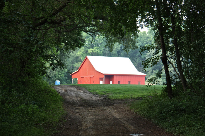 1. This classic red barn at Hollywood Farm in Annapolis appears to be straight out of a postcard.