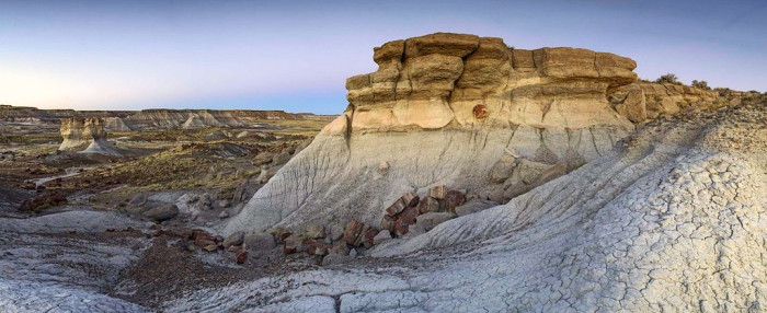 10. There are also places rich in color and texture like Petrified Forest...