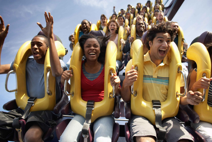 8. An embarrassing shot of someone on a rollercoaster at Six Flags New England.