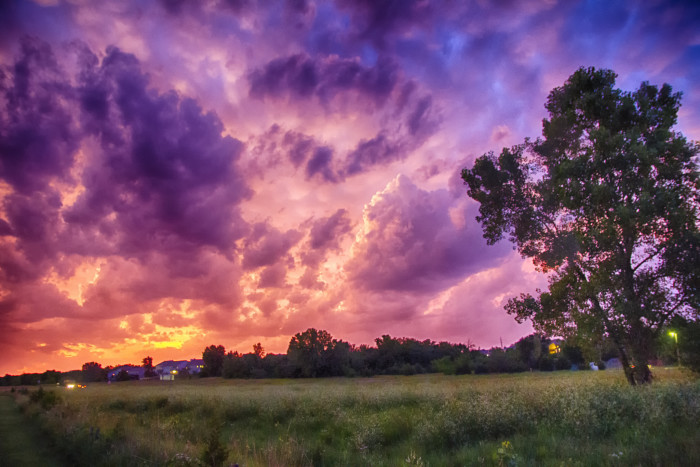 15. Beautiful Kansas storms put our lives in danger.