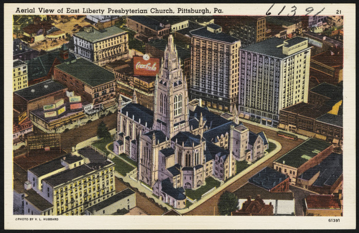 "2. ""Aerial View of East Liberty Presbyterian Church, Pittsburgh"""