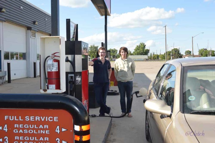 5. You don't know what to do with yourself when you travel somewhere with full-service gas.