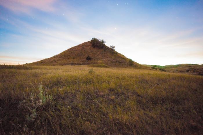 7. Lone hill by Lake Jessie near Binford, ND.
