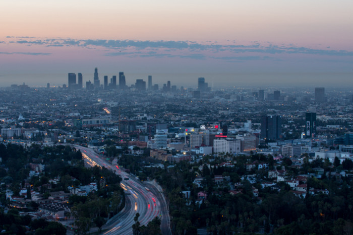 5. Los Angeles looks so clean and innocent as it's waking up in the morning.  If only it could stay that way all day!