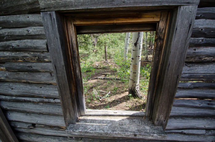 11. Here's a different perspective on abandonment. This is an abandoned cabin in South Pass.