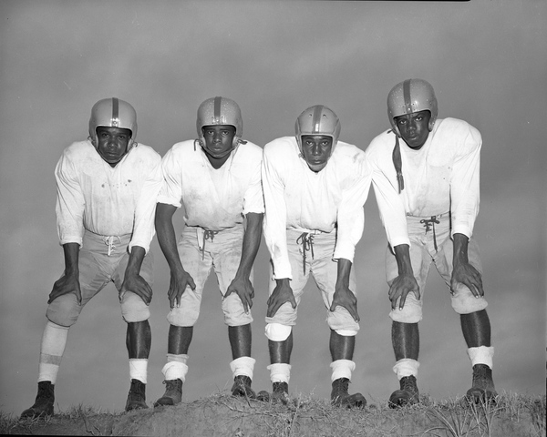 8. Unidentified African-American football players in Tallahassee, 1953
