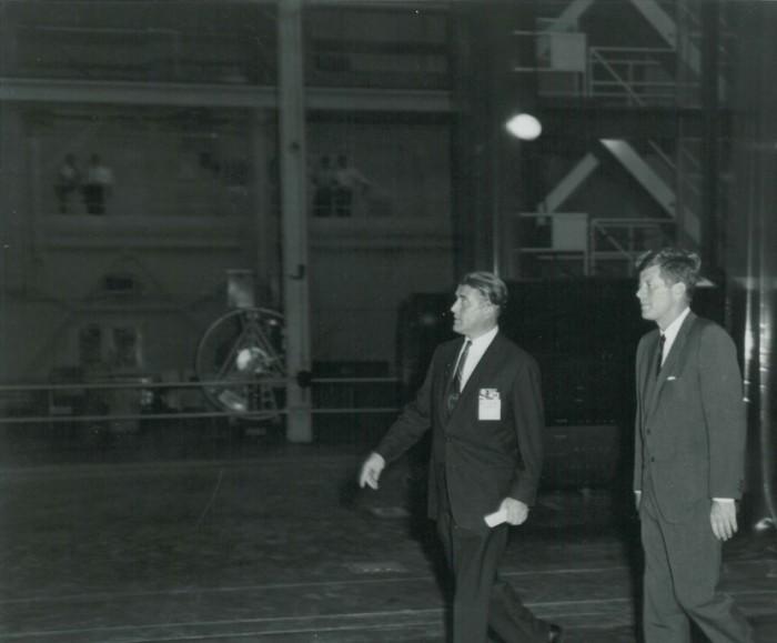 11. President Kennedy is seen here visiting Marshall Space Flight Center on September 11, 1962.
