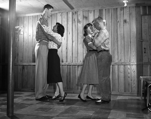 25. Scene from a high school dance in Tallahassee, April 14, 1956