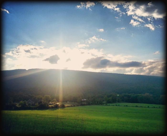 8. A stunning sunrise in Cumberland.