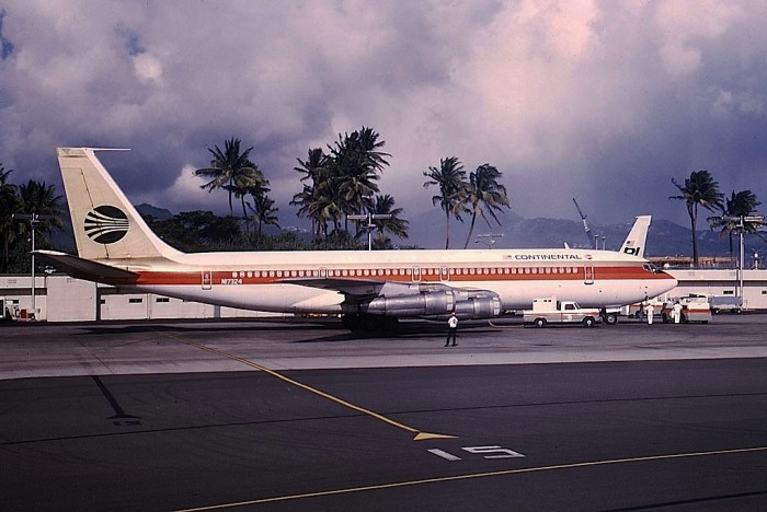 3) A Boeing 707 sits at Honolulu International Airport in 1969.