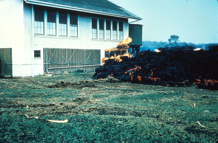 12) A Kapoho school was destroyed by lava in Jaunary 1960.