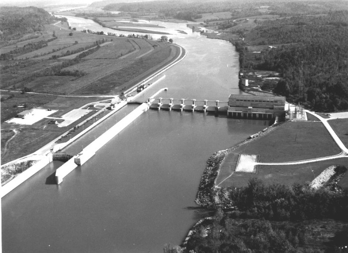 6. A vintage shot of Cheatham Dam back in the day.