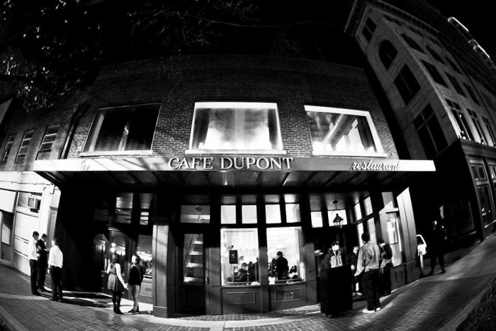 1. Treat your special someone to a wonderful 3-course meal at Cafe Dupont in Birmingham, or...