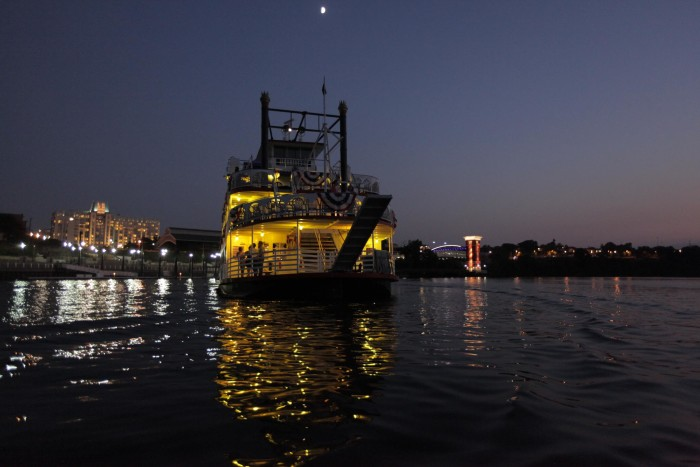 7. Enjoy a late night cruise with your sweetheart.