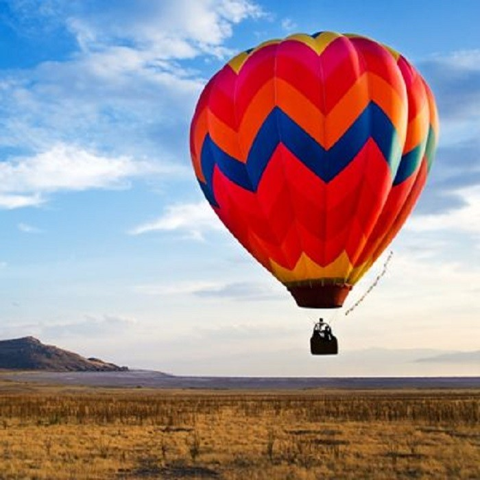 8. For an intimate setting with a spectacular view, go on a hot air balloon ride.