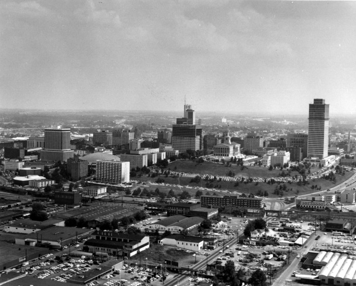 17. An aerial view of Nashville, TN