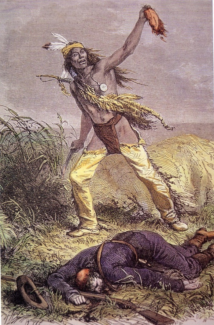 On the way, their train was attacked by a Cheyenne raiding party.