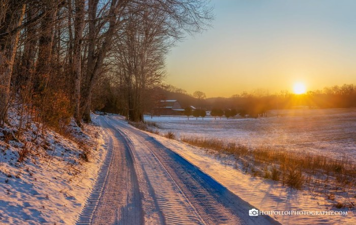 16) April Bryant took this GORGEOUS photo of the road that runs through her family's East Tennessee farm