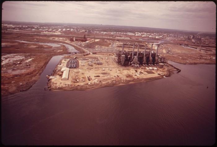 8. An industrial plant owned by Agrico near Elizabeth circa 1973.
