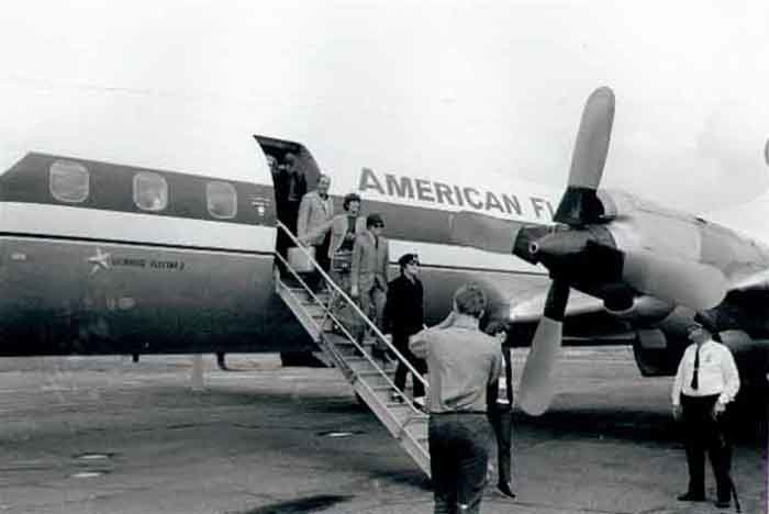7. In August of 1965 the Beatles arrived at the Minneapolis - St. Paul Airport.