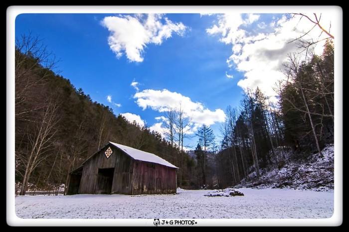 15) A stunningly beautiful barn under an equally stunning blue sky