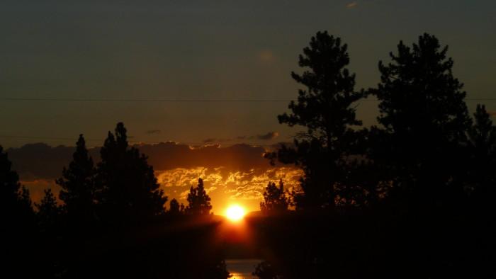 "5.  ""Blazing sunrise, Big Arm State Park,"" Flathead Lake"