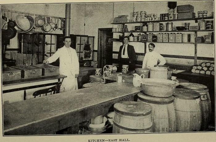 9. This image from a University of Rhode Island catalog is showing off the men's dormitories in 1905. Check out this hundred-year-old dining area!
