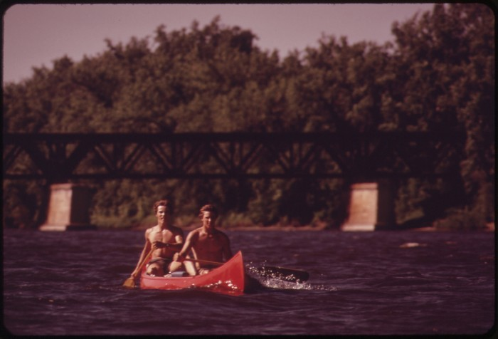8. Instead of taking the sightseeing boat, these two were paddling down the Mississippi themselves. Who has paddled in more than one area of the Mississippi?