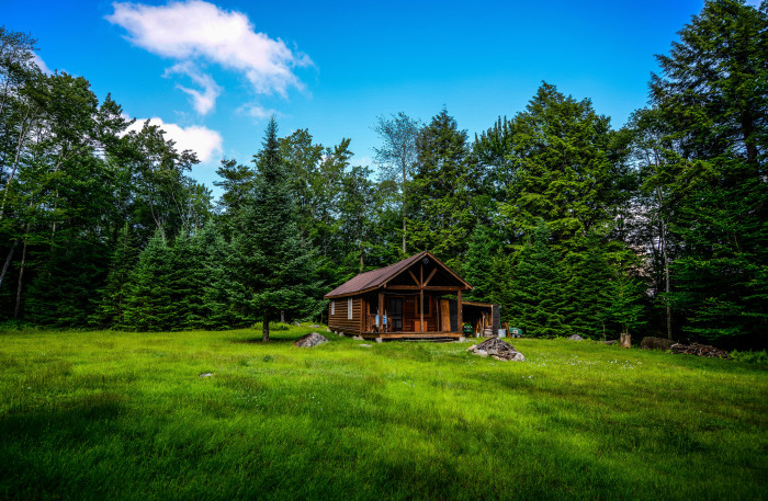 7. A perfect little getaway in the woods near Long Lake.