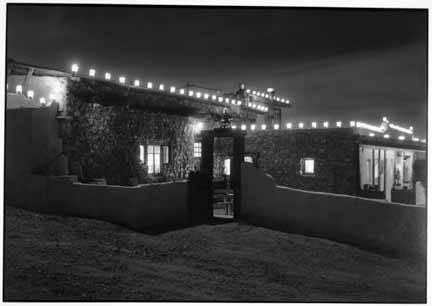 4. Luminarias glowing at night in Seton Village, near Santa Fe.