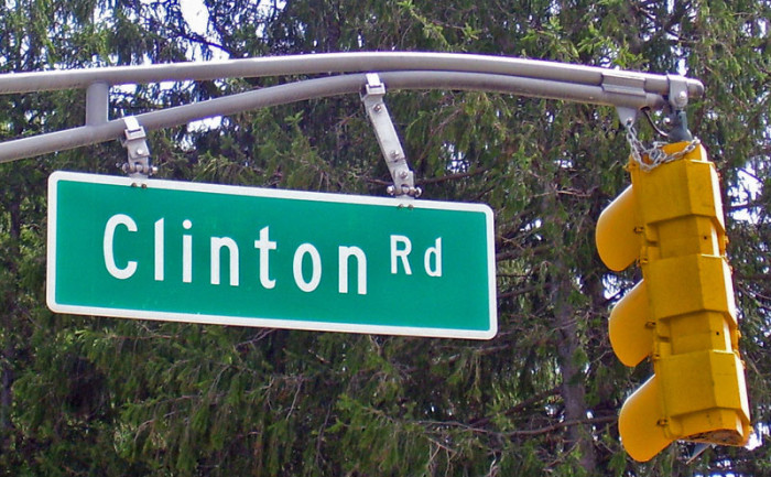 4. And the infamous Clinton Road.