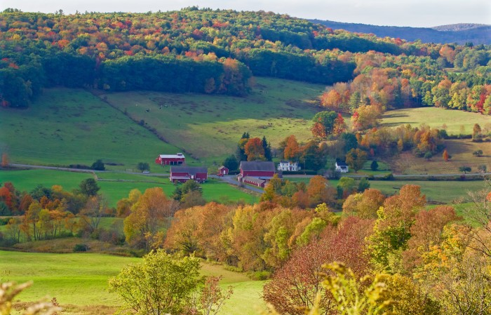 9. We love taking a drive through rural New York and seeing a beautiful farm along the way, like here in Cooperstown.