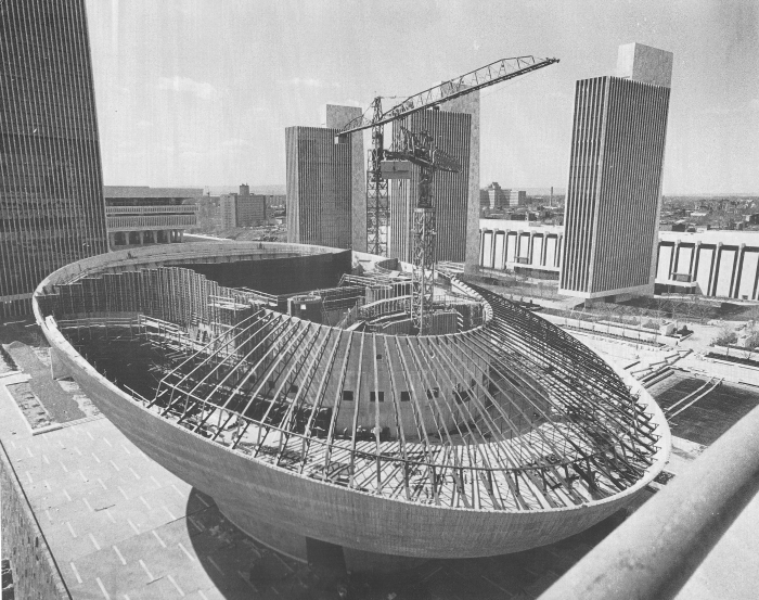 5. Captured like you've never seen it before, here is The Egg during construction in 1976.