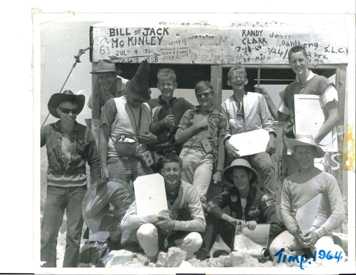 4. Explorer Scouts at Mt. Timpanogos, 1964