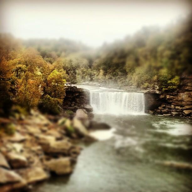 Cumberland Falls makes for a beautiful environment during any season.