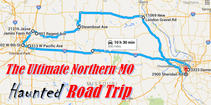The Ultimate Northern Missouri Haunted Road Trip - Map of northern missouri